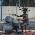 In the town of Sderot, rocket debris is turned into sculptures and bomb shelters are painted to look like caterpillars but the terror remains.