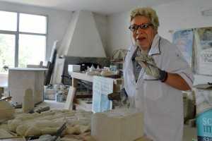 Natalia Gasparucci is a stone sculptor is Sant'Ippolito, a town rooted in tradition of this art and rich with history that dates back to the 13th century.