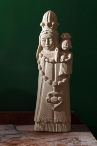 Gasparucci's Madonna sculptures, which she's most known for, are pieces for sale and exhibition.