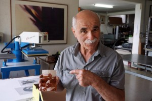 Marcello Tiboni in the studio he helped build alongside hired construction workers in 1980.