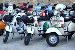 Vespas in Urbino