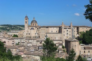 The renaissance architecture that makes up Urbino