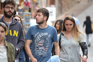 Many Italian teenagers wear t-shirts expressing their dream to visit America and experience all it has to offer.