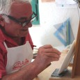 """Silvio Biagini lifts a newly made ceramic plate off his shelf. He runs his fingers around the surface and prepares to adorn its blank face, paintbrush in hand. In an instant, images from Renaissance history start to form on it. """"It is an activity that requires passion,"""" he says in Italian through a translator. """"If you have passion, everything is easier."""""""